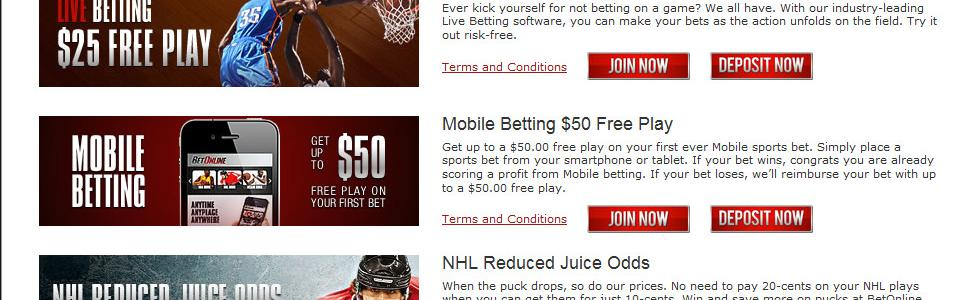 BetOnline Sportsbook - US Players Accepted